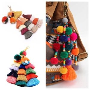Accessories - Large Mexican Tassel Keychains/Bag Charms